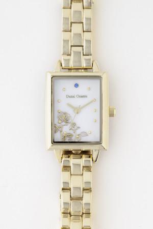 「文豪ストレイドッグス」×「EMooooN」ブレスレット付き腕時計 太宰治モデル 盤面アップ