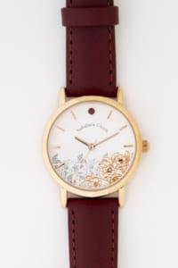「文豪ストレイドッグス」×「EMooooN」ブレスレット付き腕時計 中原中也モデル 盤面アップ