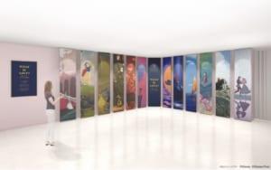 ディズニープリンセス展「WHAT IS LOVE? ~輝くヒミツは、プリンセスの世界に。~」Introduction 〜12人の輝くプリンセス〜
