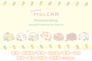 「PUI PUI モルカー PremiumShop -DesignProduced by Sanrio-」ビジュアル