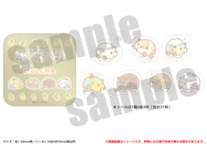 「PUI PUI モルカー PremiumShop -DesignProduced by Sanrio-」缶入りフレークシール:1,210円