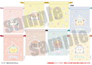 「PUI PUI モルカー PremiumShop -DesignProduced by Sanrio-」巾着(全7種):各1,320円(税込)