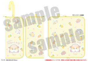 「PUI PUI モルカー PremiumShop -DesignProduced by Sanrio-」マルチポーチ:1,980円(税込)