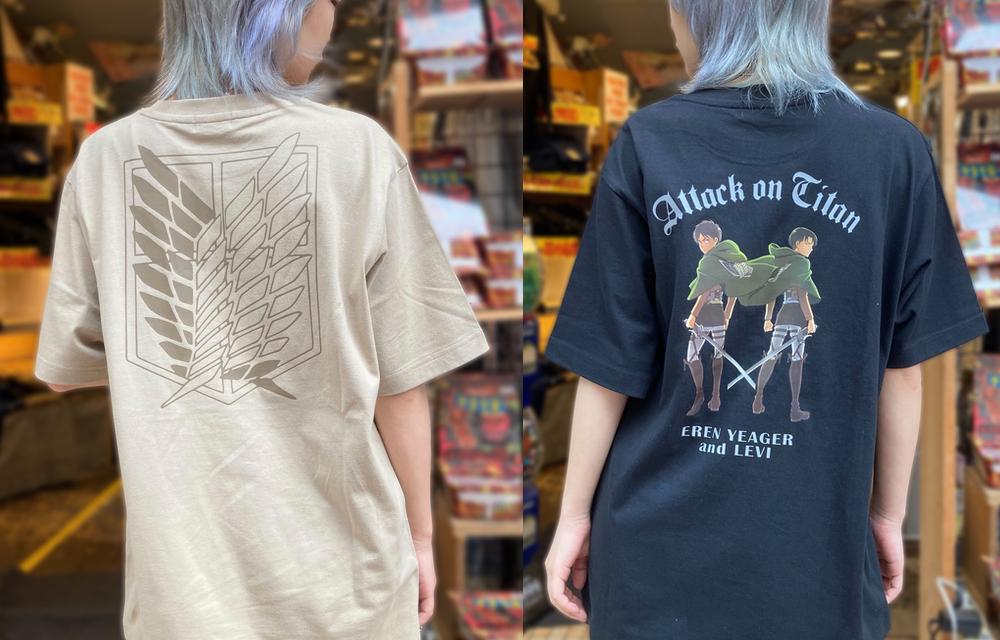 TVアニメ「進撃の巨人」公式ライセンスTシャツがヴィレヴァンに登場!自由の翼・超大型巨人・エレン&リヴァイらがプリント