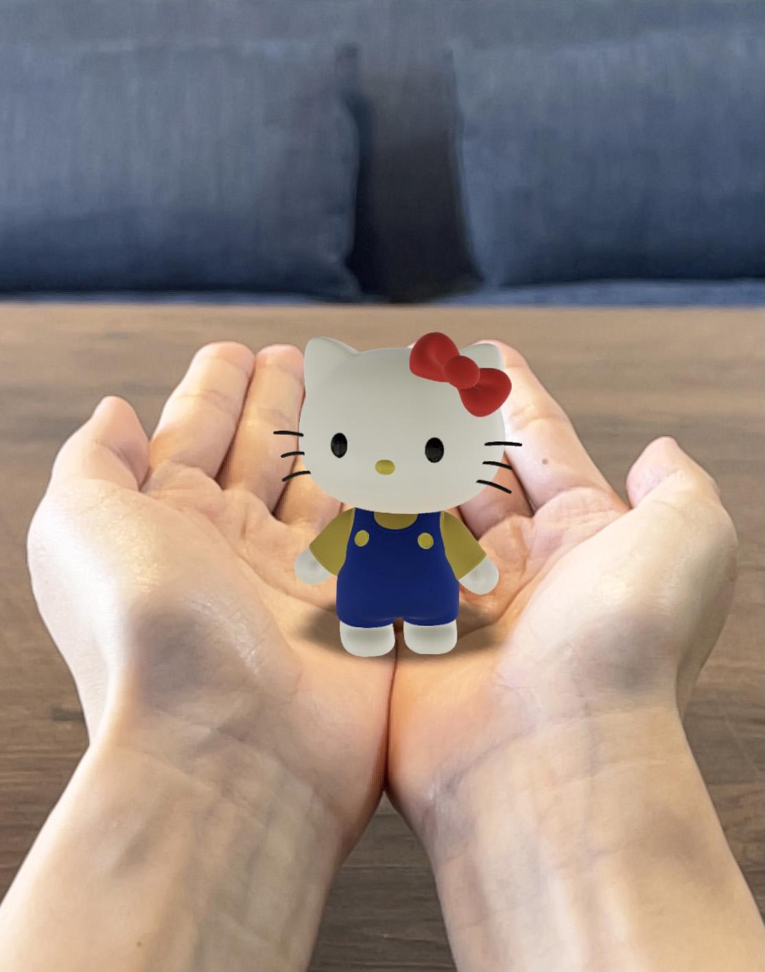 現実世界にキティやポムポムプリンが飛び出す!楽しみ方が無限大なサンリオキャラのAR機能で写真撮影