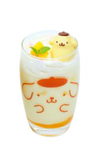 ポムポムプリンカフェ×あっとほぉーむカフェ プリンくんのなんごくマンゴーラッシ~♪