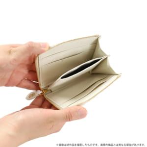 夏目友人帳 ニャンコ先生浅草文庫L字ミニ財布 使用イメージ オープン