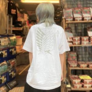 TVアニメ「進撃の巨人」公式ライセンスTシャツ 自由の翼Tシャツ (ホワイト)