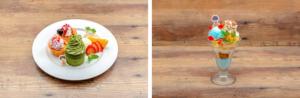 「セガコラボカフェ 憂国のモリアーティ」アルバートのカップケーキプレート・フレッドのホワイトチョコパフェ