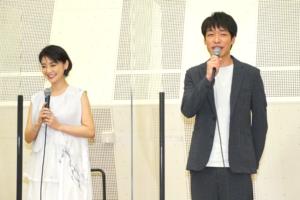 劇場版「七つの大罪 光に呪われし者たち」挨拶 倉科カナさん・川島明さん