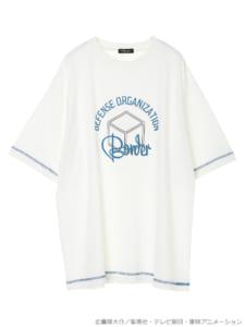 earth music&ecology Japan Label ×「ワールドトリガー」カラーステッチTシャツ ターコイズブルー