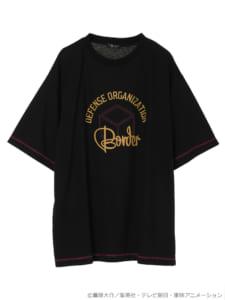 earth music&ecology Japan Label ×「ワールドトリガー」カラーステッチTシャツ ボルドー