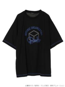 earth music&ecology Japan Label ×「ワールドトリガー」カラーステッチTシャツ ブラック