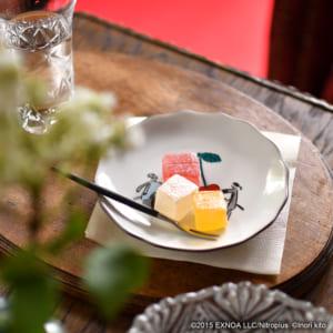 「刀剣乱舞-ONLINE-」× 鬼頭祈 × 九谷焼 花型皿:加州清光・大和守安定