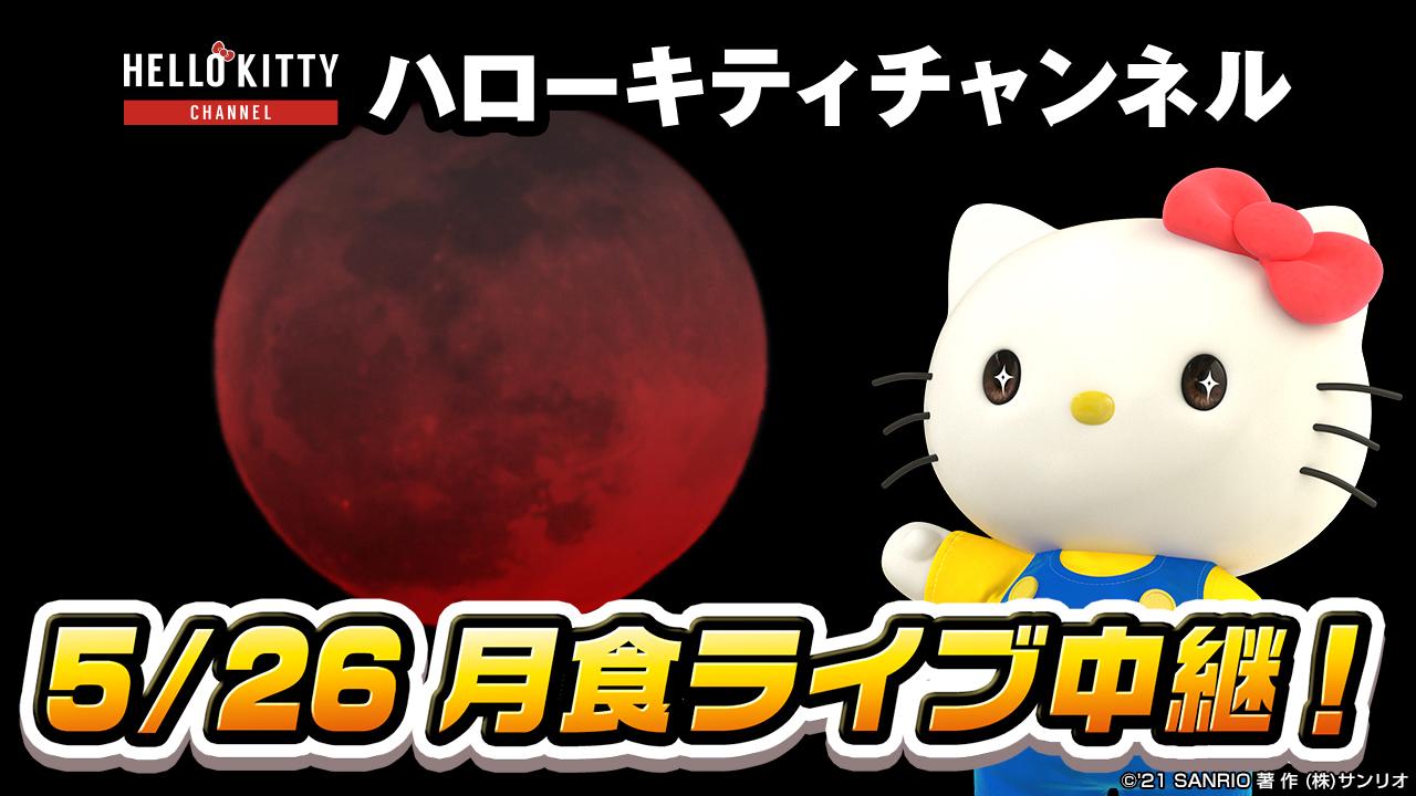 """キティさんが皆既月食を生配信!大人気""""コメ返""""をリアタイで楽しめる"""