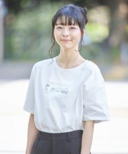 「はぴだんぶい×titivate」はぴだんぶいプリントTシャツ オフホワイト