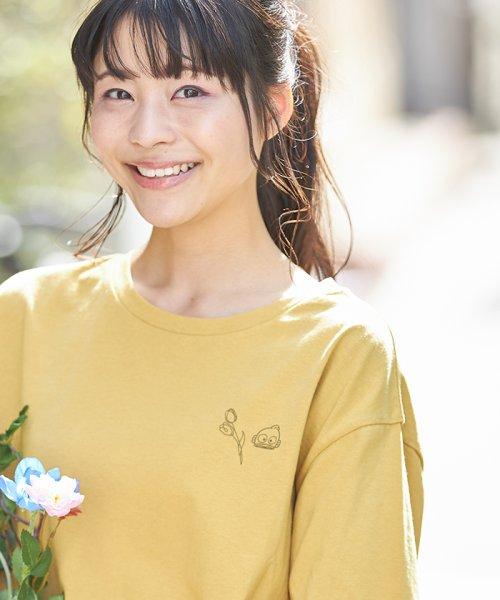 「はぴだんぶい×titivate」ハンギョドンプリントTシャツ イエロー
