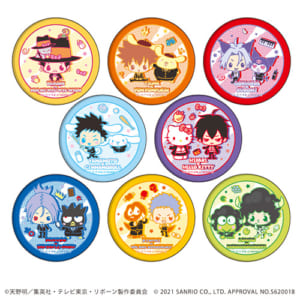 「家庭教師ヒットマンREBORN!× SANRIO CHARACTERS」 POP UP SHOP in 東京キャラクターストリート 缶バッジ(ブラインド)