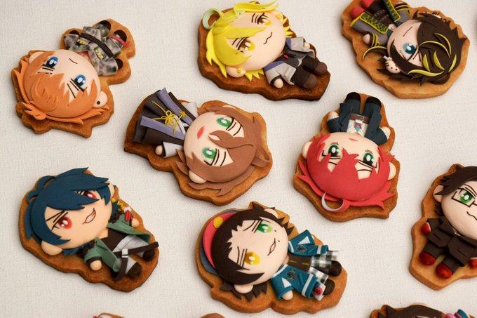 「手描き立体クッキー」の質感・立体感がスゴい!「ヒプマイ」「あんスタ」「呪術廻戦」も皆クッキーに