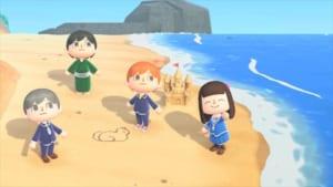 「フルーツバスケット島」砂浜の絵