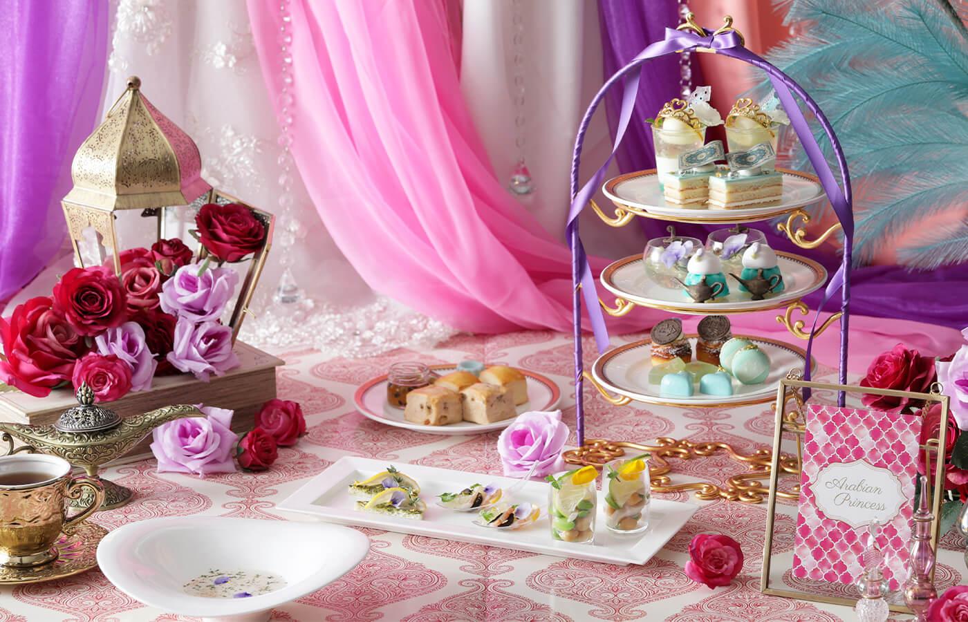 「アラジンと魔法のような恋」がテーマのアフタヌーンティー!魔法のランプや絨毯が夏スイーツに