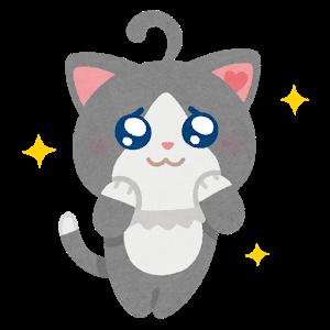 猫のキャラクターのイラスト