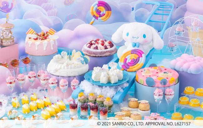 「シナモロール×夏のデザートビュッフェ」素敵空間でゆめかわスイーツを楽しもう!