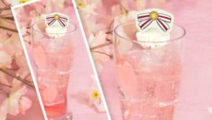 「カードキャプターさくら クリアカード編」×「アニメイトカフェ」さくらとしゅわしゅわ甘い桜ソーダ