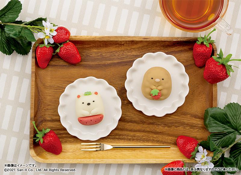 新作は苺がモチーフ「すみっコぐらし×食べマス」ファミマで新発売