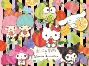 「サンリオ」×「EGG & SPUMA」コラボカフェ ビジュアル