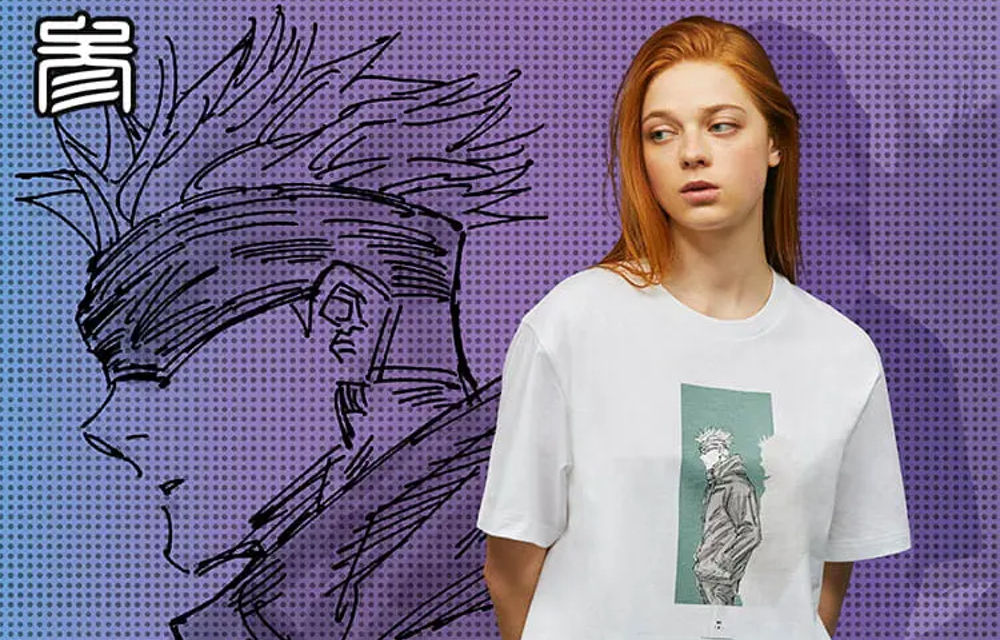 原作絵柄だよ「呪術廻戦×ユニクロ」初コラボ!五条悟らがデザインされたTシャツがスタイリッシュ