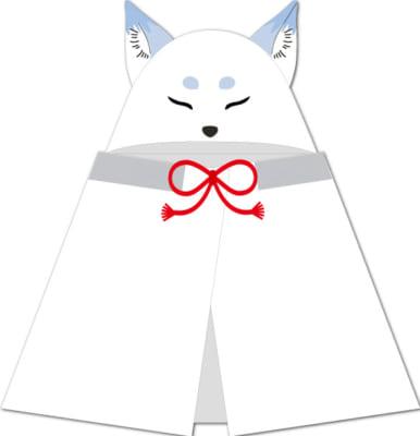 「みんなのくじ 刀剣乱舞-ONLINE- ~タオルの陣 其ノ伍~」ダブルゲット賞:お供の白い狐フード付きタオル