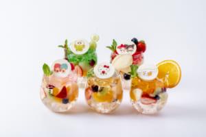 「サンリオ」×「EGG & SPUMA」コラボカフェ フルーツゼリー