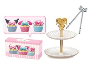 「サンリオキャラクターズ KAWAII CAKE SHOP」おそろいカップケーキ