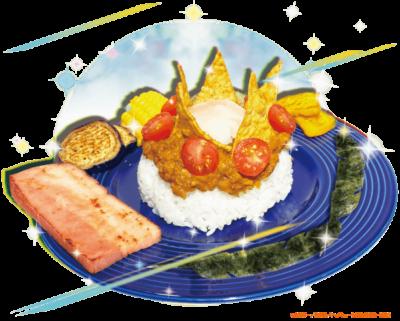 「ハイキュー!! TO THE TOP×文房具カフェ」影山の夏野菜たっぷり王様ドライカレー温玉のせ