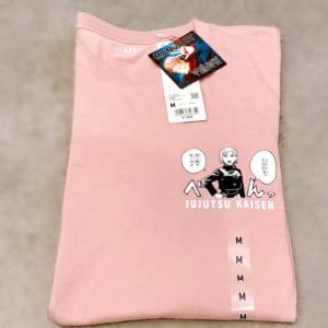 「呪術廻戦×ユニクロ」4. 呪術廻戦 UT グラフィックTシャツ 釘崎 野薔薇 たたんだじょうたい