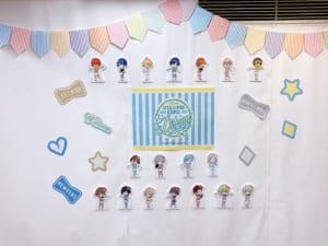 「うたプリ×アニメイトカフェ」店内装飾(後方の装飾)