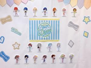 「うたプリ×アニメイトカフェ」店内装飾(後方の装飾アップ)