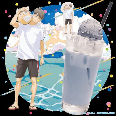「ハイキュー!! TO THE TOP×文房具カフェ」治の優しい味の黒ごまミルク