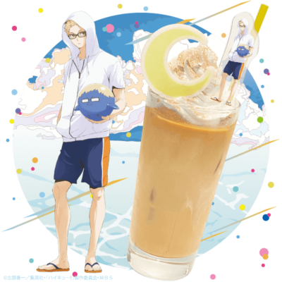 「ハイキュー!! TO THE TOP×文房具カフェ」月島のショートケーキに合うミルクティー