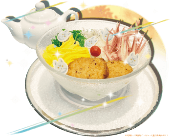 「ハイキュー!! TO THE TOP×文房具カフェ」北さんのちゃんと夏バテ防止具だくさんあったか茶漬け