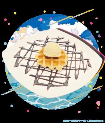 「ハイキュー!! TO THE TOP×文房具カフェ」54種のトッピングが選べる!!ワッフルプレート