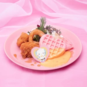 「SANRIO CHARACTERS the Rainbow Diner by Etoile et Griotte」ディアダニエル ハートワッフルとメープルチキン