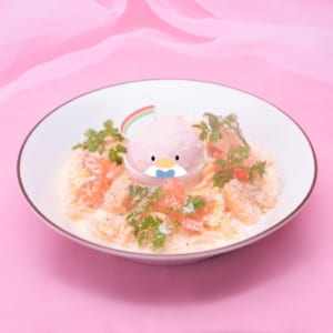 「SANRIO CHARACTERS the Rainbow Diner by Etoile et Griotte」タキシードサム サーモンクリームパスタ