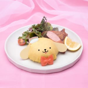 「SANRIO CHARACTERS the Rainbow Diner by Etoile et Griotte」ポムポムプリン ジャークチキンとジャンバラヤオムライス