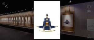 「刀剣乱舞-本丸博-2020」オンライン会場 謝儀の間・三日月宗近ポップアップ画像