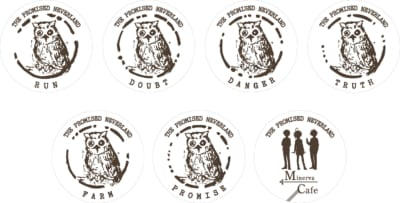 『約束のネバーランド』 GFハウス脱獄編 ミネルヴァ・カフェ デザインラテシリーズ:コースター