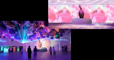 「スタジオ地図 10th クロスパーク in よみうりランド」HANA・BIYORI花とデジタルのアートショーコラボ