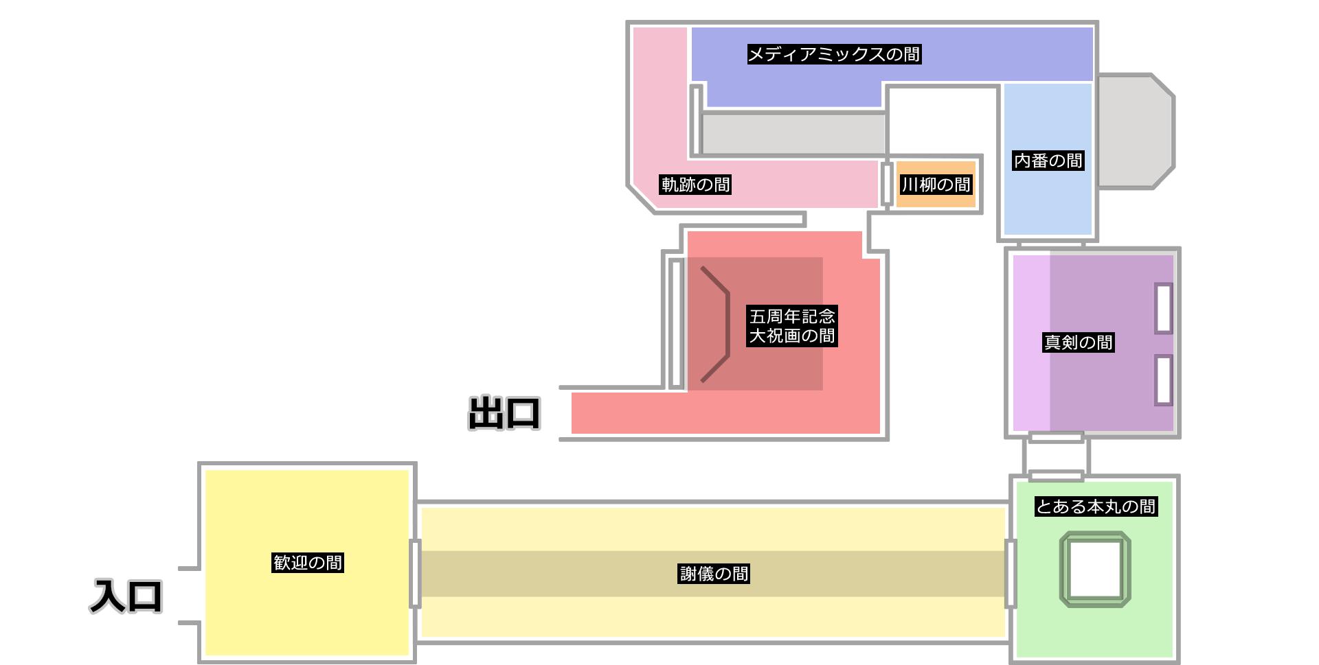 「刀剣乱舞-本丸博-2020」オンライン会場 オンライン会場MAP