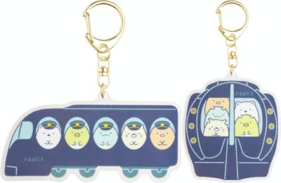 「すみっコぐらし×南海電車」クリアホルダーセット550円(税込)アクリルキーホルダー(全2種)